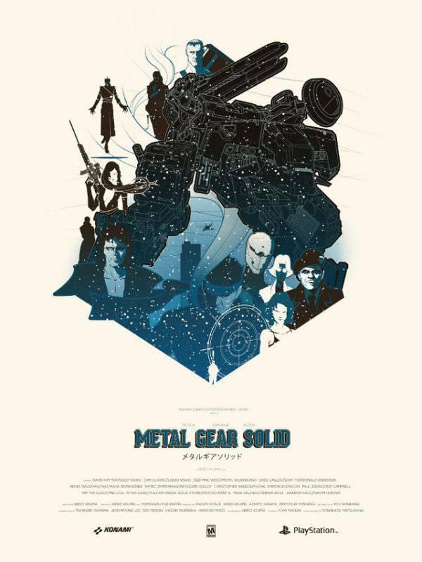 Постер Метал Геар Солид